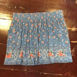 Cute Bandana/Floral Print Skirt